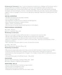 good marketing resume sample marketing resume summary u2013 foodcity me