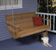 porch swing large format paper woodworking plan from wood magazine