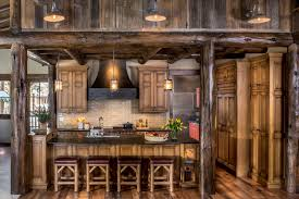 colorado high country rustic kitchen pb kitchen design