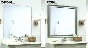bathroom mirror trim ideas wall mirrors framing bathroom wall mirror mirror framing ideas