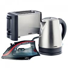 Grey Kettle And Toaster Toasters And Sandwich Makers Small Appliances Appliances