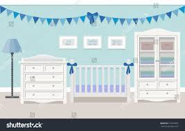 baby room interior boy white furniture stock vector 515616691