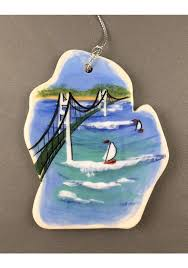 michigan mackinac bridge ornament