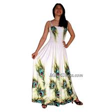 summer maxi dresses peacock white dress women floral plus size clothing maxi dress