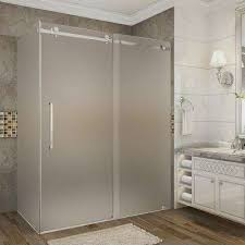 60 Shower Doors Frameless 60 Corner Shower Doors The Home Depot Regarding Frosted