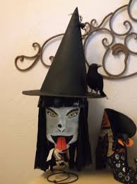 Milk Jug Crafts Halloween by I Made This Witch Out Of A Plastic Milk Jug She Has Trash Bag
