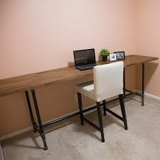 diy pipe desk plans how to build a pipe desk the family handyman