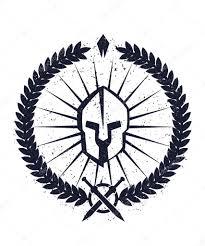 grunge emblem with spartan helmet u2014 stock vector nexusby 76915949