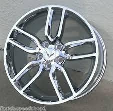 chrome corvette wheels c7 z51 style chrome corvette wheels 19 20 combo 2014 2017 c7
