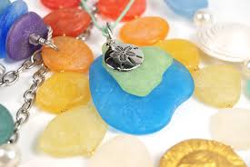 How To Make Jewelry From Sea Glass - faux sea glass jewelry the blue bottle tree
