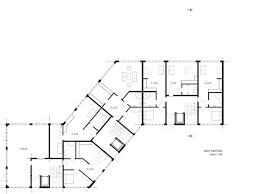 archidoom multi unit residential week 5th floor plans and section