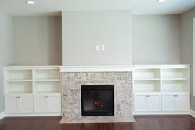 Fireplace Floor Plan Cobblestone France Open Floor Plan White Cabinet Built Ins Gas