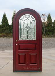 Exterior Door Wood Top Doors Mahogany Arched Exterior Doors