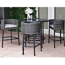Patio High Chairs Patio Furniture High Top Table And Chairs Cool With Photos Of
