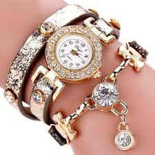 bracelet chain watches images Gemstone chain leather bracelet watch gift a hug jpg