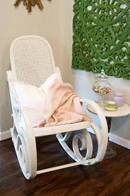 Shabby Chic Nursery Furniture by White Bentwood Rocking Chair Rocker White Nursery Chair Pink