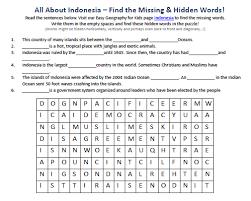 indonesia worksheet free printable geography worksheets