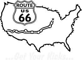 Usa Coloring Pages Famous Route 66 On The Map Of Usa Coloring Page Free Printable by Usa Coloring Pages