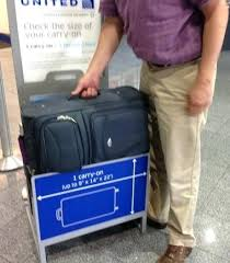 united check in luggage international carry on size despite careful packing this bag still