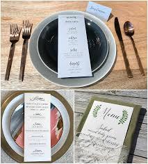 diy wedding menu cards diy wedding menus place cards programs on cardstock paper how