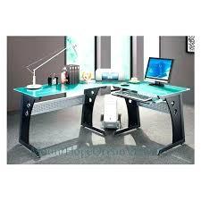 Office Furniture Glass Desk Small Glass Corner Computer Desk Eatsafe Co