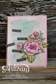 nice people stamp birthday blooms watercolour card stampin u0027 up
