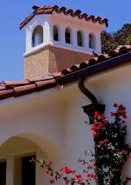 spanish style chimney in santa barbara ca mediterranean