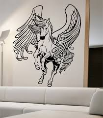 horse wall sticker etsy pegasus wall decal sticker art decor bedroom design mural horse greek home animals mythology
