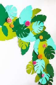 diy tropical garland studio diy