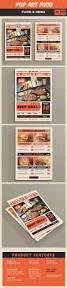 pop art food menu flyer template psd vector ai design download