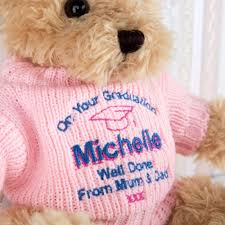 personalized graduation teddy special embroidered graduation teddy forever bespoke