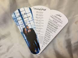 wedding program designs petal fan programs