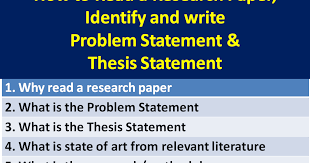 what is the thesis learning and life how to read a research paper and extract
