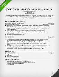 resume templates customer service customer service representative resume template for free