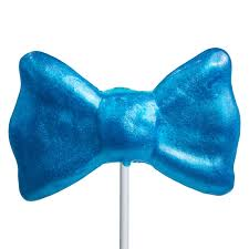 blue bows bow tie lollipop masks by melville candy