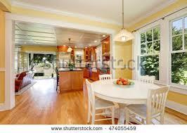 Hardwood Floor Kitchen 3d Rendering Modern Kitchen Loft Stock Illustration 574548304
