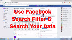 use facebook search filter and search latest post people photos