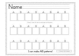 ab worksheets for kindergarten patterns patterns kid