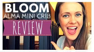 Rocking Mini Crib by Bloom Alma Mini Crib Review Youtube