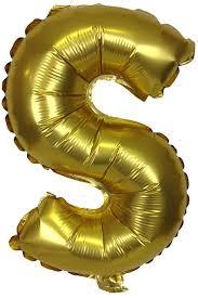 metallic balloons 16 foil mylar balloon gold letter s