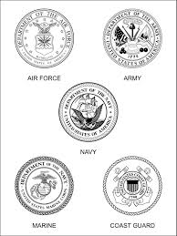 7 images of armed forces symbols coloring pages military