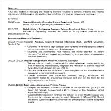 Stanford Resume Template Sample Computer Science Resume 11 Download Free Documents In