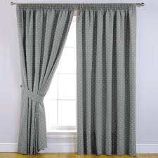 dotty thermal blackout readymade curtains grey