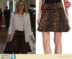 wornontv jeannie u0027s leopard print skirt and white blazer on house