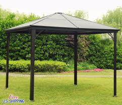 metal hardtop gazebo aluminium pergola cover steel square shed