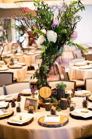 manzanita tree centerpiece with succulents hydrangeas roses and