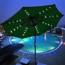 solar umbrella corliving patio umbrella with solar power led