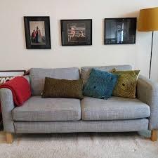 ikea karlstad sofa ikea karlstad two seater sofa home furniture on carousell