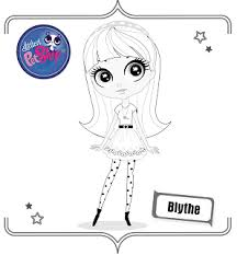 littlest pet shop blythe printable coloring pages doll diaries