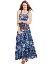 lauren by ralph lauren lauren jeans co sleeveless printed maxi